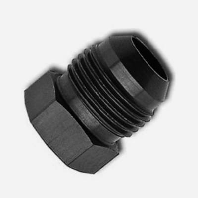 Aluminum AN Fittings - AN Flare Plug - Fragola - -4 Black AN Plug