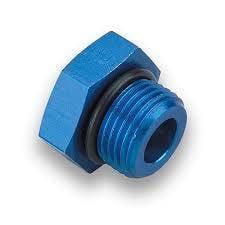 """Aluminum AN Fittings - O-Ring AN Plug - Fragola - -8 AN Port Plug-3/4""""x16 Thread-Blue-O-Ring Included"""