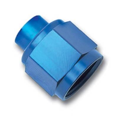 Aluminum AN Fittings - AN Flare Caps - Fragola - Blue -4 Flare Cap