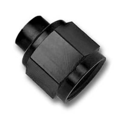 Aluminum AN Fittings - AN Flare Caps - Fragola - Black -8 Flare Cap