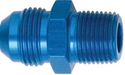 "Aluminum AN Fittings - Male Connector AN to Pipe Fittings - Fragola - Blue -4 AN to 1/8"" Pipe Adapter"