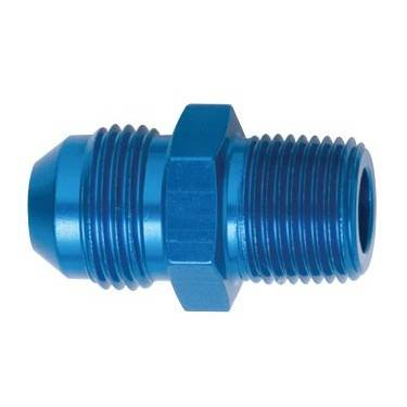 "Aluminum AN Fittings - Male Connector AN to Pipe Fittings - Fragola - Blue -8 AN to 3/8"" Pipe Adapter"