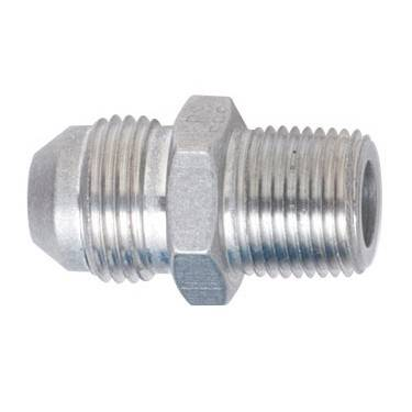 "Aluminum AN Fittings - Male Connector AN to Pipe Fittings - Fragola - Clear-8 AN to 3/8"" Pipe Adapter"