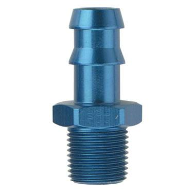 "Push Lock Fittings - Hose Barb to Pipe Adapter - Fragola - Blue 3/8"" Hose Barb To 1/4"" Thread Size"