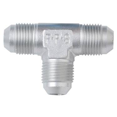 Aluminum AN Fittings - Male Flare Tee Fittings - Fragola - Clear -6 AN Flare Tee Fitting