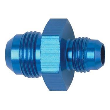 Aluminum AN Fittings - Male Flare Reducer Fittings - Fragola - Blue -8 AN to -6 AN Flare Reducer