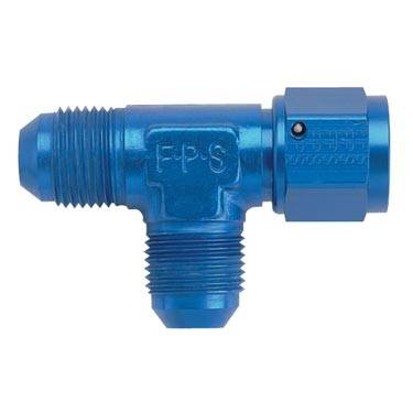 Aluminum AN Fittings - Female Flare Run Tee Fittings - Fragola - Blue -8AN Female Flare Run Tee