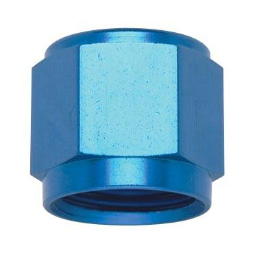 Fittings & Hoses - Tube Sleeve Fittings  - Fragola - Blue -6AN Tube Nut