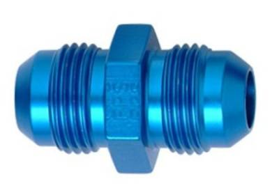 Aluminum AN Fittings - Flare Union Fittings - Fragola - Blue -8 AN Union Adapter
