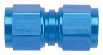Aluminum AN Fittings - Female Flare Swivel Fittings - Fragola - Blue -8 AN Female Flare Swivel Straight