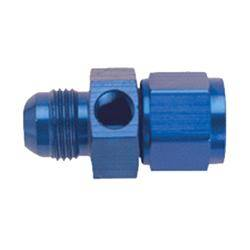 "Aluminum AN Fittings - Aluminum Flare to Pipe Tee Fittings - Fragola - Blue -6AN Inline Fuel Pressure Gauge Adapter-1/8"" Port"