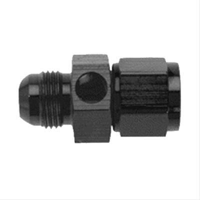 "Aluminum AN Fittings - AN Female to AN Male Reducer - Fragola - Black-6AN Inline Fuel Pressure Gauge Adapter-1/8"" Port"