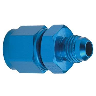 Aluminum AN Fittings - AN Female to AN Male Reducer - Fragola - Blue -10 AN Female to -8 AN Male Reducer