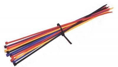 """Body Components - Zip Ties & Racer Tape - KMJ Performance Parts - 14"""" Plastic Zip Ties - red"""