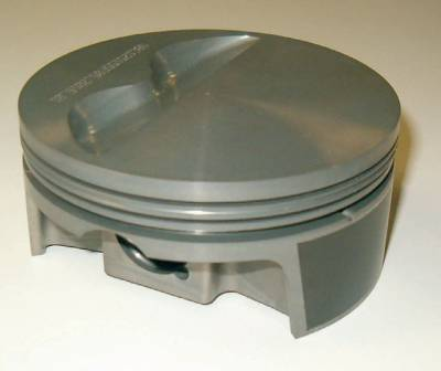 Pistons & Rings - Pistons - Mahle Motorsports - Mahle Flat Top 2 Valve Relief Pistons Small Block Chevy Cubic Inch 350; Rod Length 5.7; Stroke 3.500; Bore 4.060