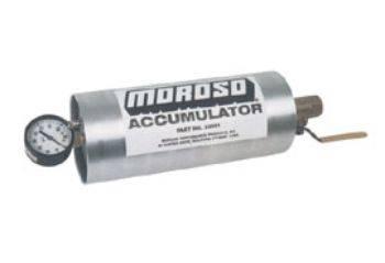 Oil Pans & Components - Accumulators & Restrictors - Moroso - Moroso Accumulator - Gas pressured accumulator; 1 1/2 quart capacity