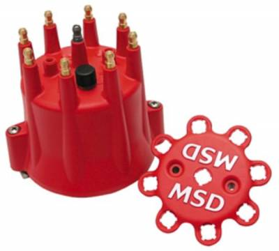 Distributors & Components - Distributor Cap & Rotor - MSD - MSD Ignition 8433 Chevy GM V8 Pro Billet Distributor Cap