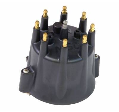 Distributors & Components - Distributor Cap & Rotor - MSD - MSD Ignition 84333 Chevy GM V8 Pro Billet Distributor Cap Replacement Cap for Billet Distributors - Black