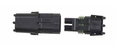 Ignition & Electrical - Wiring Harnesses, Relay Kits, Etc. - MSD - MSD 8173 2-Pin Weathertight Connector Single Pack