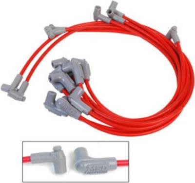MSD - MSD 8.5mm Super Conductor Spark Plug Wires - SBC; HEI Style Cap