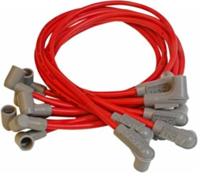 MSD - MSD 8.5mm Super Conductor Spark Plug Wires - SBC; Points Style Cap