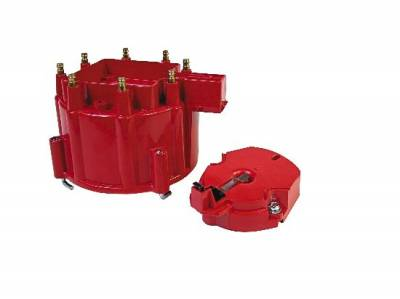 Distributors & Components - Distributor Cap & Rotor - MSD - MSD Ignition 8416 GM Chevy Stock Replacement HEI Distributor Cap and Rotor