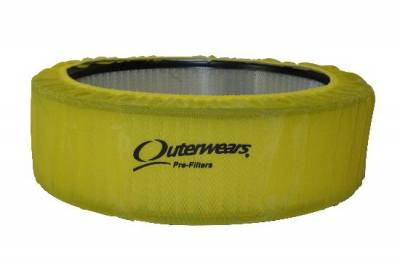 """Air Filters & Cold Air Intakes - Pre Filters - Outerwears Co Inc - 14""""x 4"""" Yellow Outerwears Pre-Filter"""