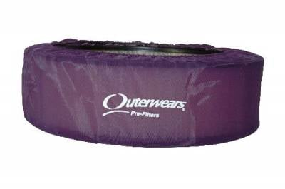 """Air Filters & Cold Air Intakes - Pre Filters - Outerwears Co Inc - 14""""x 4"""" Purple Outerwears Pre-Filter"""