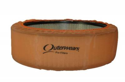 """Air Filters & Cold Air Intakes - Pre Filters - Outerwears Co Inc - 14""""x 5"""" Orange Outerwears Pre-Filter"""