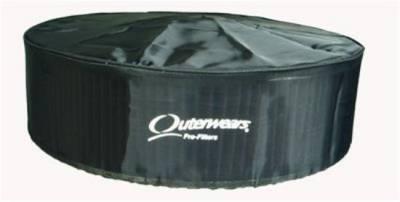 "Air Filters & Cold Air Intakes - Pre Filters - Outerwears Co Inc - Outerwears Co Inc 10-1014-01 14"" x 4"" Air Cleaner Pre-Filter w/ Top - Black"