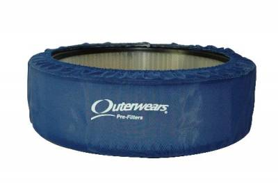 """Air Filters & Cold Air Intakes - Pre Filters - Outerwears Co Inc - 14""""x 3"""" Blue Outerwears Pre-Filter"""