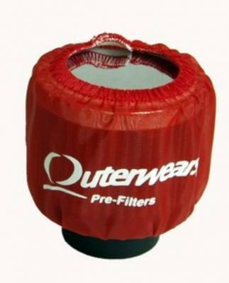 Breathers, Overflows & Hardware - Outerwears - Outerwears Co Inc - Outerwears for Crank Breathers - for Non-Shielded Breathers Red