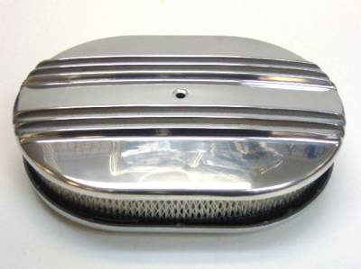 """Air Filters & Cold Air Intakes - Air Cleaner Assemblies & Accessories - Precision Racing Components - Finned Aluminum Air Cleaner Assembly - 15"""" x 2"""" finned air cleaner assembly"""