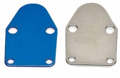 Fuel System & Components - Mechanical Fuel Pumps - Precision Racing Components - Aluminum Fuel Pump Block Off Plate-SB Chevy