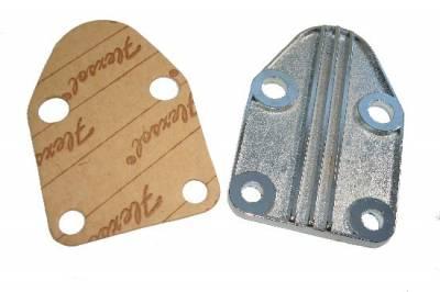Fuel System & Components - Mechanical Fuel Pumps - Precision Racing Components - SB Chevy Chrome Fuel Pump Block Off Plate