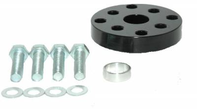 """Cooling - Fan Spacers - Assault Racing Products - ARC 18050 1/2"""" Billet Black Aluminum Universal Fan Spacer - Ford/Chevy Stock Car Modified"""