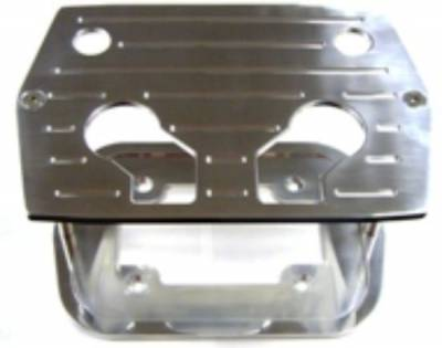 Ignition & Electrical - Battery & Electrical Accessories, Connectors, Relays & Fuses - Precision Racing Components - Polished Aluminum Optima Battery Mount Tray