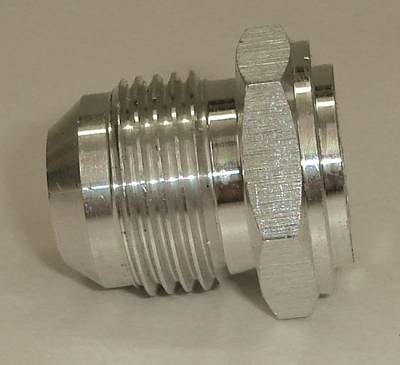 Fittings & Hoses - Weld In Bungs - Precision Racing Components - Aluminum Male -4AN male Weld Bung