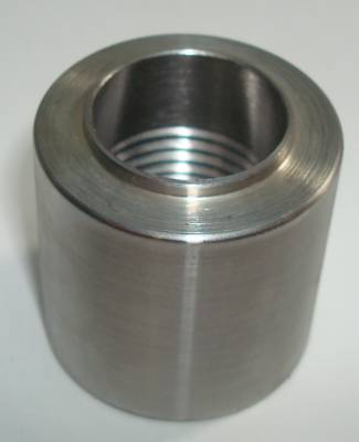 "Fittings & Hoses - Weld In Bungs - Precision Racing Components - Steel Female 1/4"" NPT Weld-In Bung"