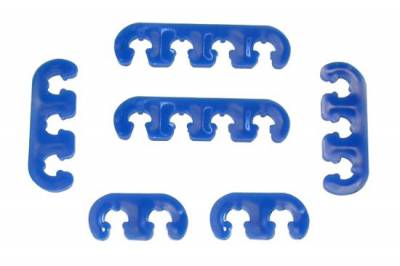 Ignition & Electrical - Wire Loom & Routing Kits - Precision Racing Components - Deluxe blue wire divider set