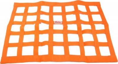 """Safety & Seats - Seat Belts, Safety Harnesses, Window Nets & Components - Precision Racing Components - Orange Ribbon Window Nets-18""""x 24""""-SFI Rated"""