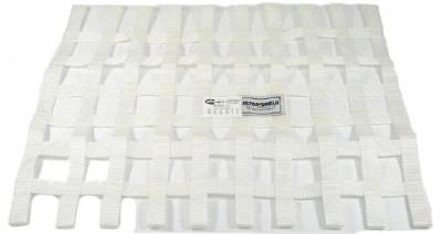 """Safety & Seats - Seat Belts, Safety Harnesses, Window Nets & Components - Precision Racing Components - White Ribbon Window Nets-18""""x 24""""-SFI Rated"""
