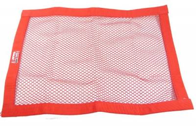 """Safety & Seats - Seat Belts, Safety Harnesses, Window Nets & Components - Precision Racing Components - 18""""x 24"""" Red Mesh Window Net"""