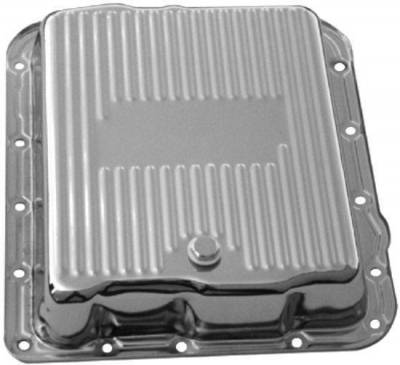 Transmission & Drivetrain - Transmission Oil Pan & Components - Precision Racing Components - 700R4 and 4L60 chrome steel transmission pan-Extra capacity
