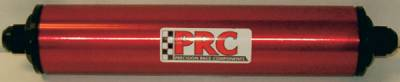 """Fuel System & Components - Fuel Filters - Precision Racing Components - PRC Inline Aluminum Fuel Filter 10"""" x 2"""" Black -8AN"""