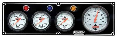 "Quick Car - QuickCar 3-1 Gauge Panel-3 3/8"" Tach-OP/WT/OT"