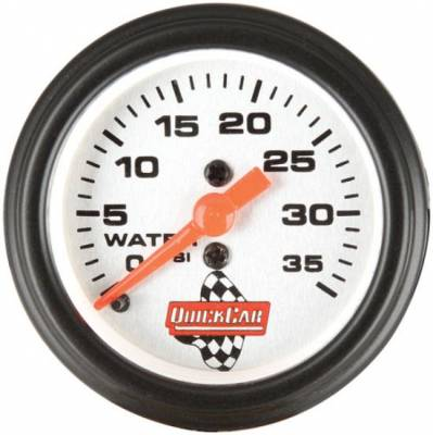 "Gauges & Accessories - Water Temp & Pressure Gauges - Quick Car - QuickCar 611-6008 Analog 2-5/8"" Replacement Water Pressure Gauge w/1/8"" NPT Male"