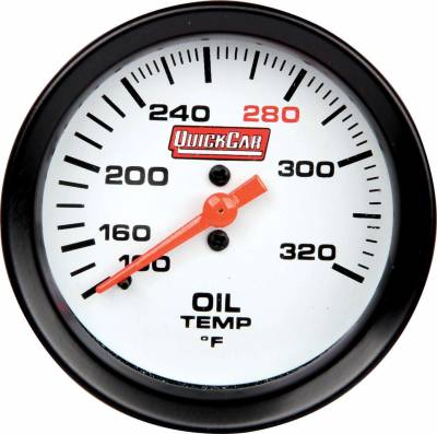 "Quick Car - 2 5/8"" Extreme Oil Temp Gauge 100-320 Degree"