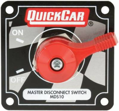 Quick Car - QuickCar 55-012 Silver Complete Master Disconnect Emergency CutOff Switch 4 Post