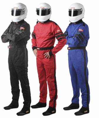 Driving Suits - Racequip Single Layer Suits - Racequip - Single Layer Black Large 110 Series SFI-1Racing Suit